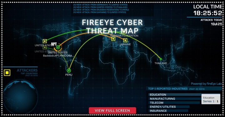 FireEye Cyber Threat Map