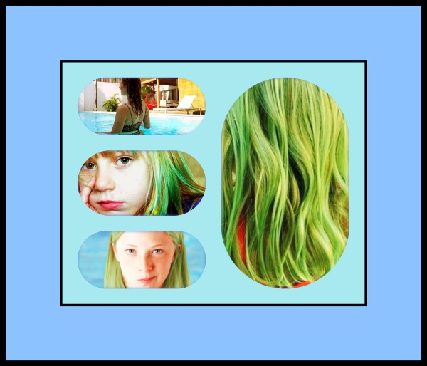 examples of swimming pool green hair