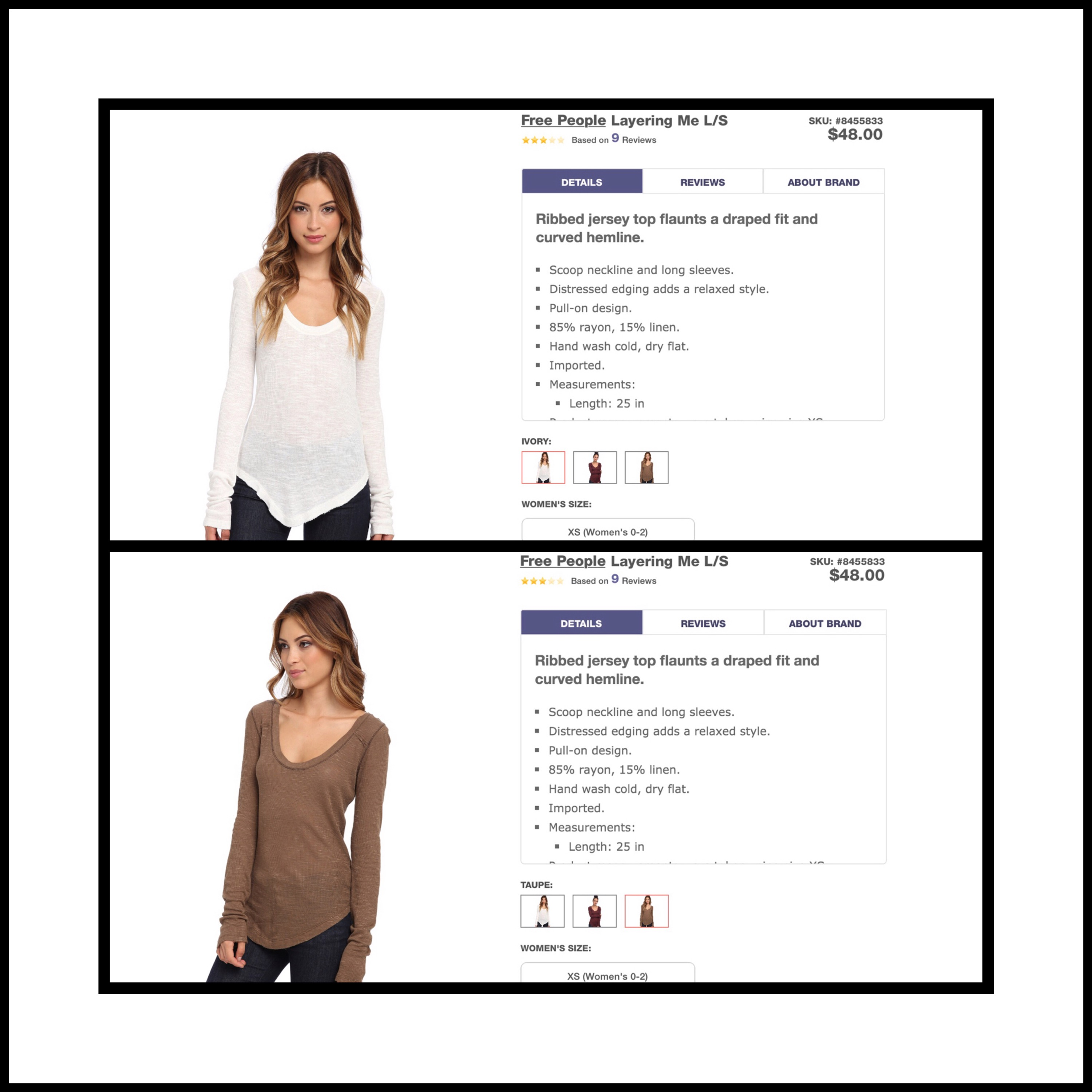 Free People S Clothing Sizes Vsatrends