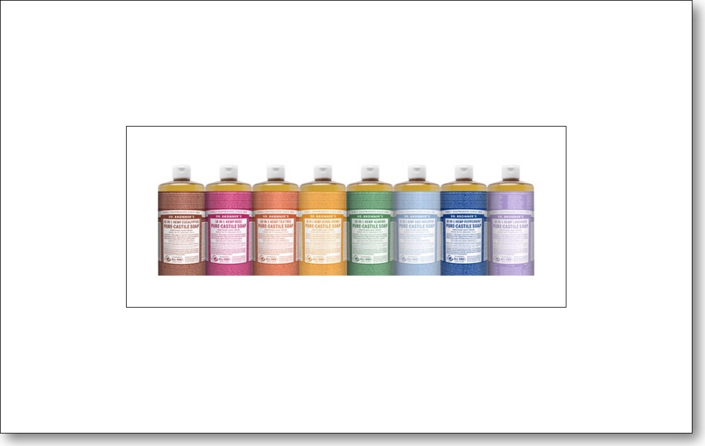 All the Dr. Bornner's Liquid Soaps together look cool!