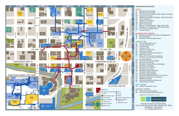 Rochster Subway Map If It Exist.A Patient S Guide To Mayo Clinic In Rochester Minnesota Debunking