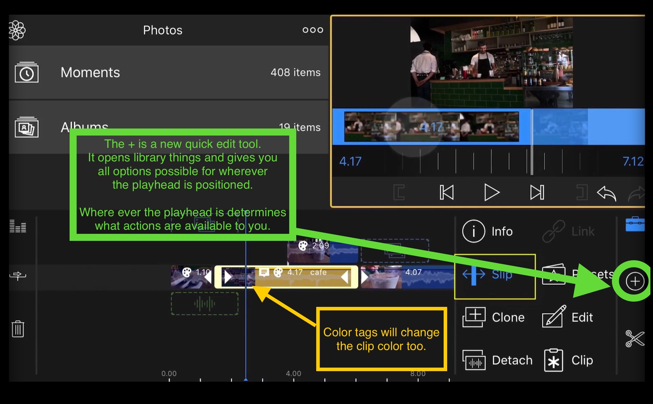 Can you reverse a video on imovie app