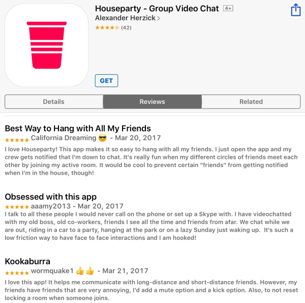 Houseparty - Group Video Chat App