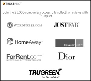 Some of Trust Pilot's Business Clients