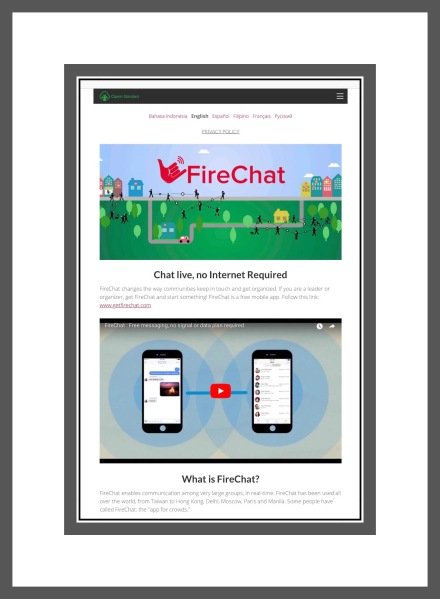FireChat's Website